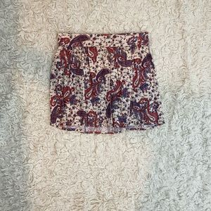Living Doll Paisley Print Mini Skirt Size XS